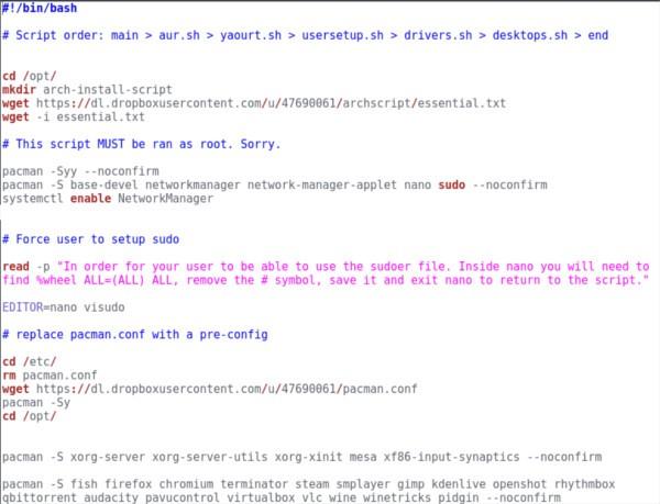 linux-scripting-arch-linux-setup-script