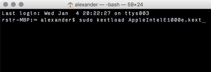 kextload command