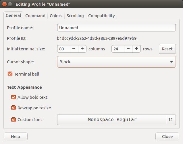 command-line-terminal-edit-preferences-menu-general-tab
