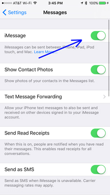 imessage-sync-ios-turn-off