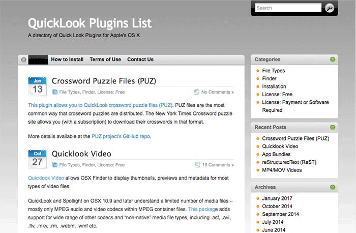 quick-look-plugins-list