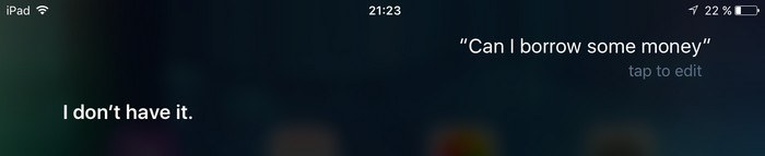 Siri-Borrow-Money