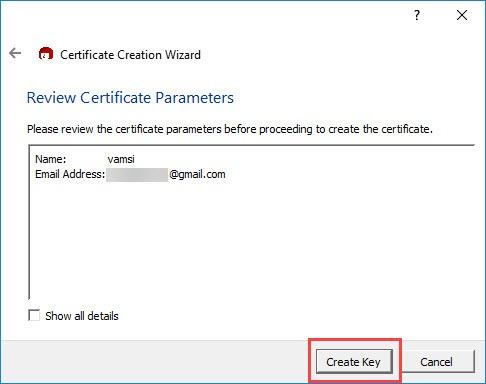 encrypt-emails-outlook-click-create-key