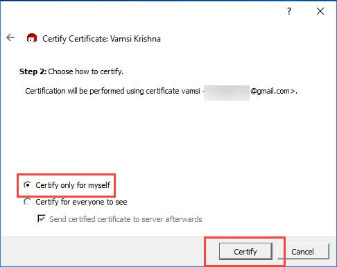 encrypt-emails-outlook-select-only-for-myself