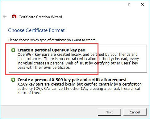 encrypt-emails-outlook-select-openpgp-key-pair
