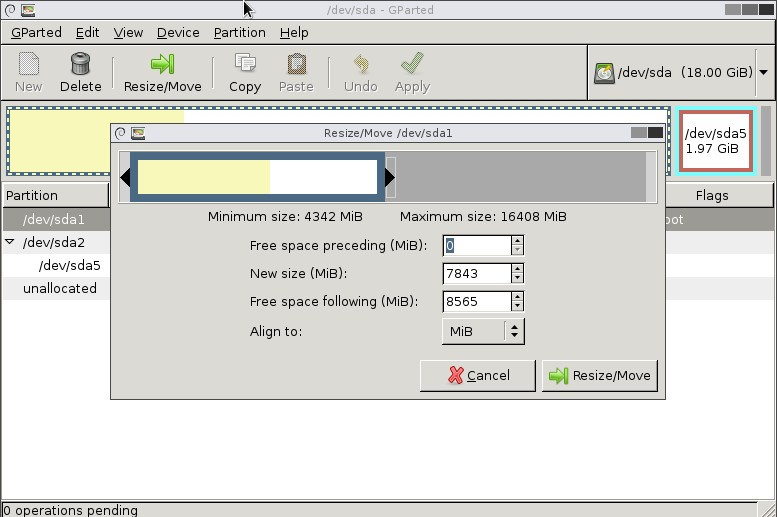 linux-home-gparted-resize-root-partition