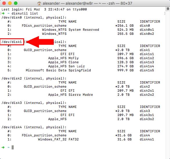 terminal-diskutil-list-result-2