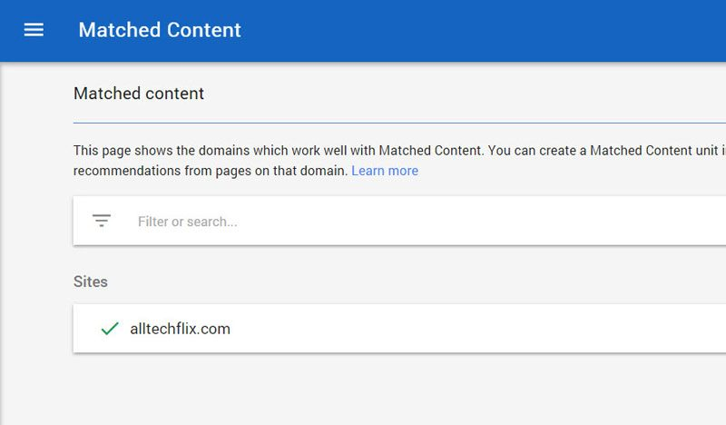 adsense-matched-content-eligibility