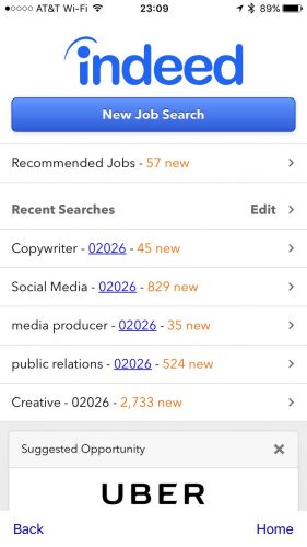 Indeed's Job Search Mobile App sports a simple interface but its job lead aggregator is a very powerful job search resource.