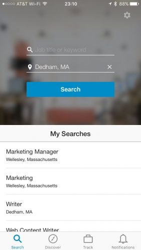 LinkedIn Jobs Mobile App is a slimmed down job search app that is an off-shoot of the main LinkedIn Mobile App.