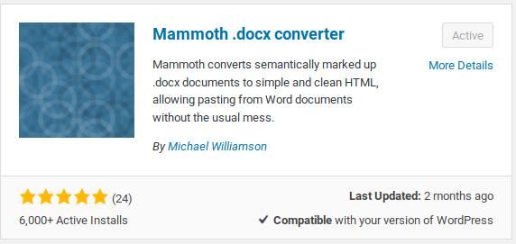 ms-word-to-wordpress-mammoth-installation