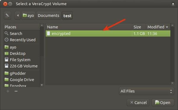Select a VeraCrypt Volume_053