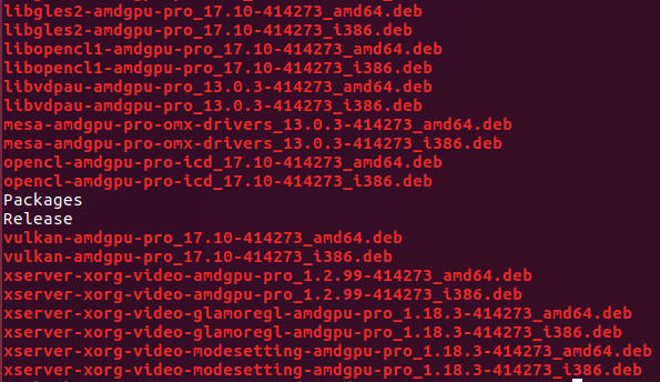 Packages that come with AMDGPU-PRO