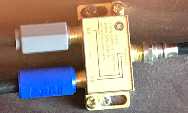 Signal Splitter for OTA Coaxial Cables from Antennae