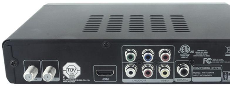 Mediasonic HomeWorx PVR HW-150 Back Input/Output Ports