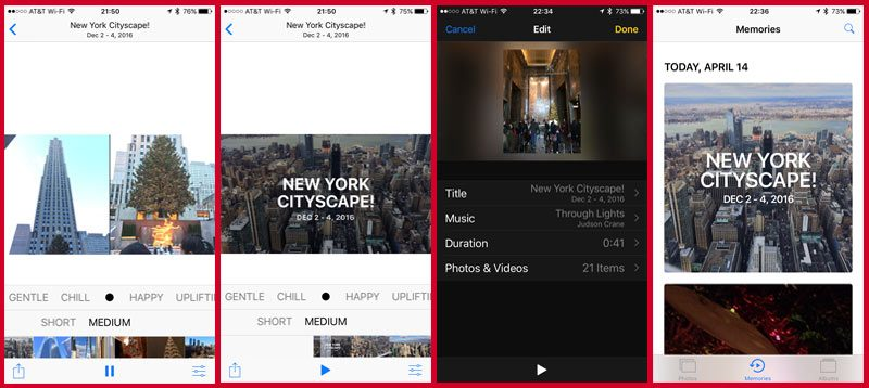 You can save and edit your slideshows from your iPhone's Photos app in iOS 10+.
