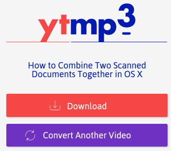 Download youtube videos as mp3 after the conversion is completed on YTmp3