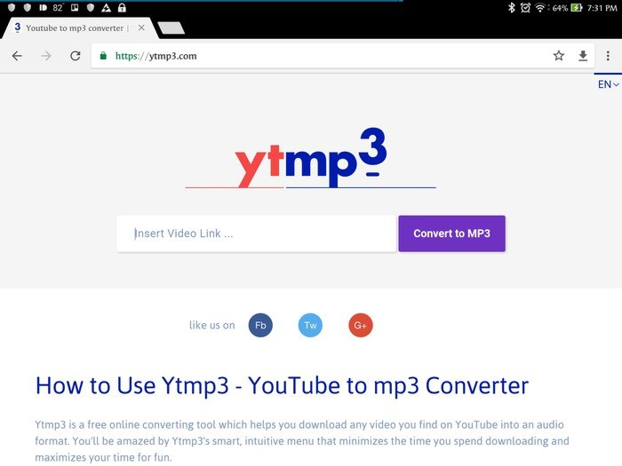Use Ytmp3 youtube music converter to download with no limit