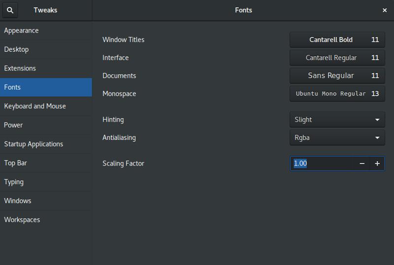 HiDPI GNOME Fonts