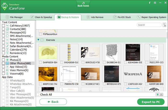 icarefone-backup-restore-files