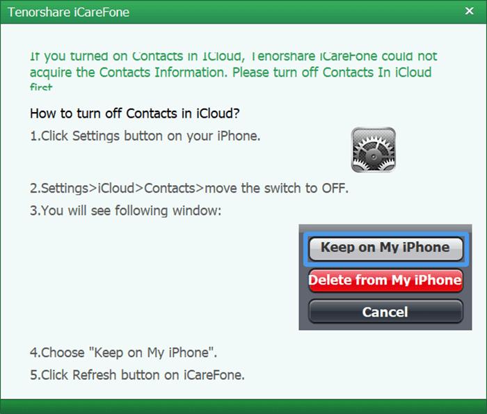 icarefone-turn-off-icloud
