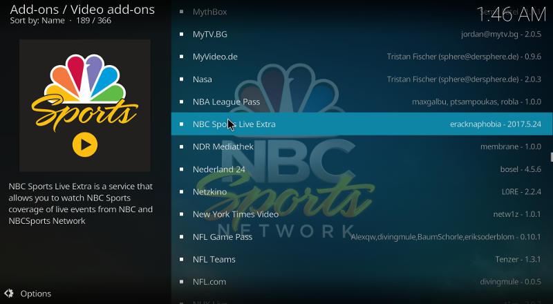 best-kodi-add-ons-nbc-sports