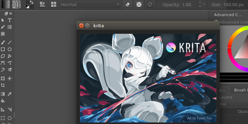Krita is the best digital painting program for Linux