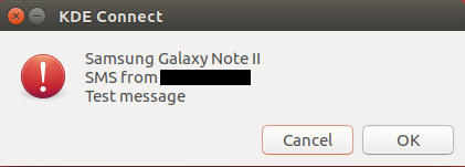 Receive SMS with KDE Connect on Ubuntu