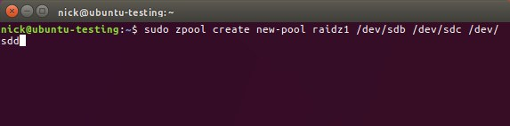 Create ZFS Pool