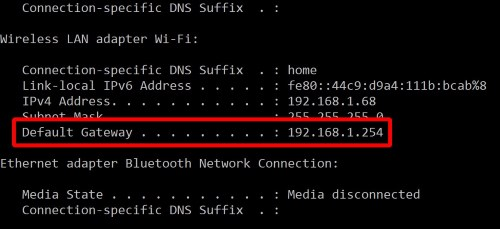 windows-router-config-address
