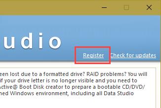 active-data-studio-click-register-link