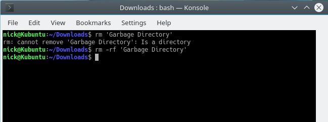 Delete Directory CLI