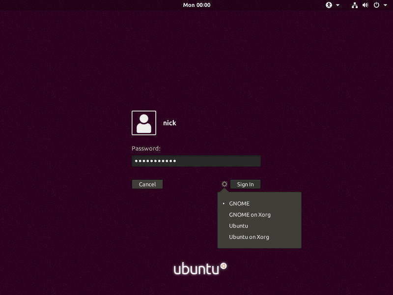 GNOME Sessions on Ubuntu