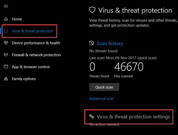 controlled-folder-access-click-virus-threat-protection-settings-link