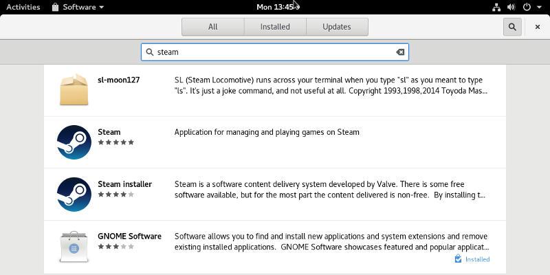 GNOME Software Search