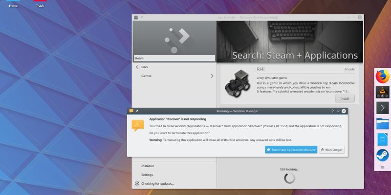 KDE Discover Steam Fail