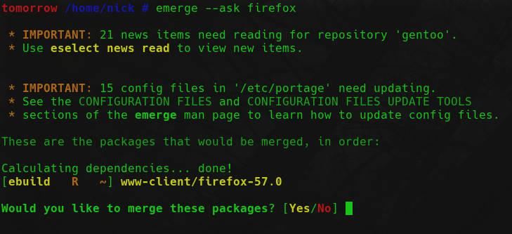 Install Software Gentoo