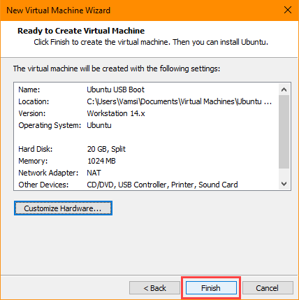 usb-boot-vmware-click-finish