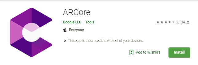 arcore-google-play-page