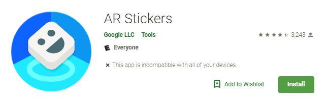 arcore-stickers-app