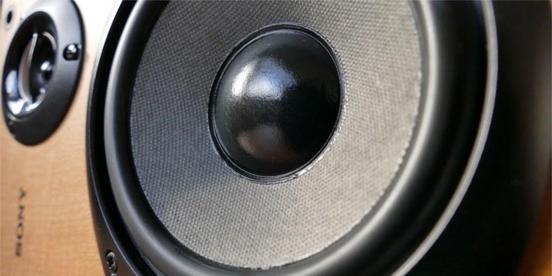 Desktop speaker close-up