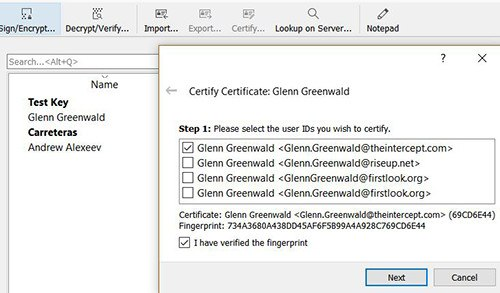 gpg4win-import-verified