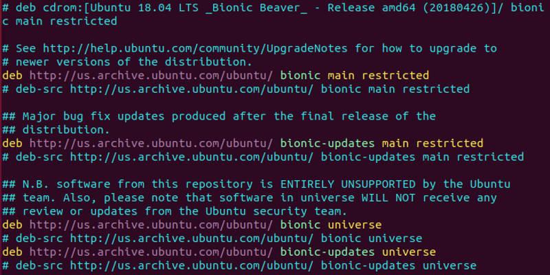 Ubuntu Sources