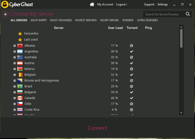 cyberghost-choose-my-server