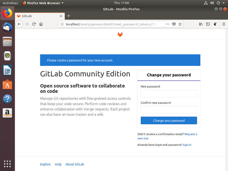 Create Your Admin Account For Gitlab