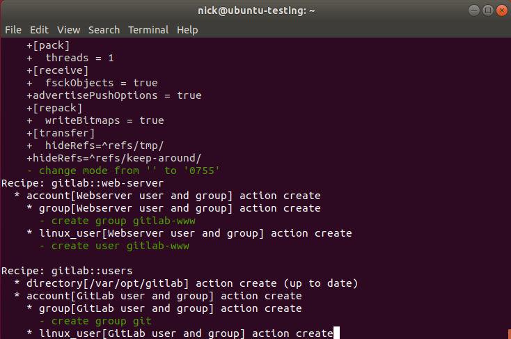 Reconfigure Gitlab