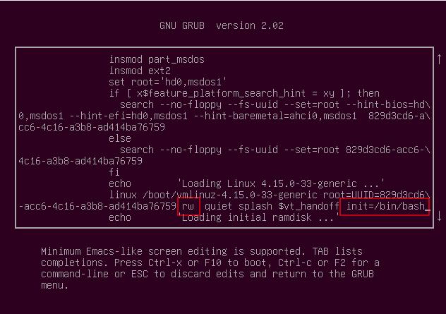 grub-edit-kernel-loading-menu