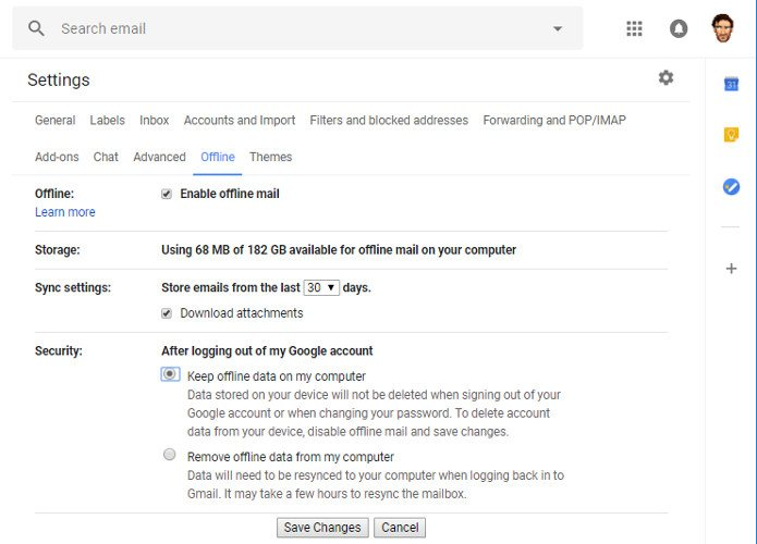 how-to-access-gmail-on-desktop-offline-settings