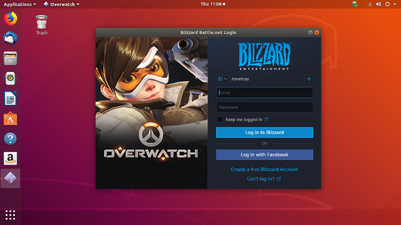 Overwatch installed on Ubuntu with Winepak