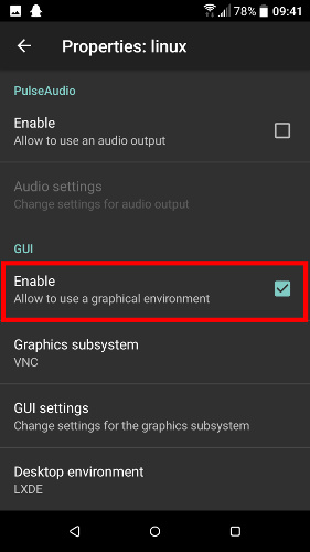 install-linux-deploy-android-enable-gui